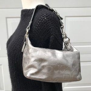 COACH Demi silver leather Bag purse satchel